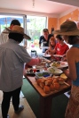 Food being shared during permablitz#6