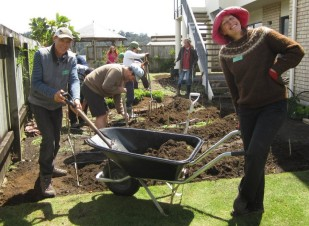 Blitz #5 digging over the vege beds