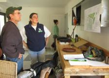 Kate & Kent, previous hosts, inspect the permaculture plan during blitz#5