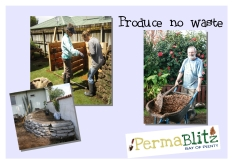 We create systems that cycle resources so there's no such thing as waste. We learn how to make great compost and develop easy ways to do so specific for every garden . We creatively re-use materials onsite or put them to use in other people's gardens.